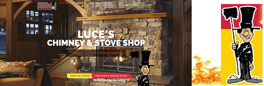 Luce's Chimney and Stove Shop Website