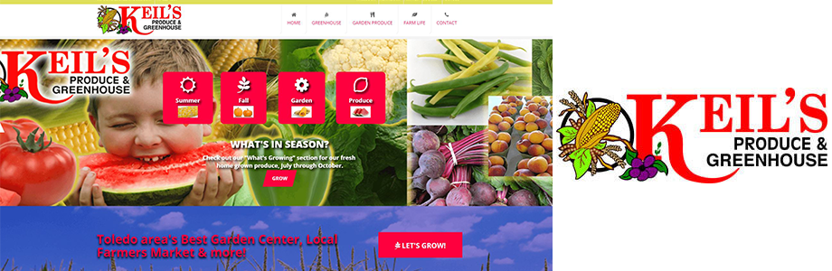 Keils Produce and Greenhouse website