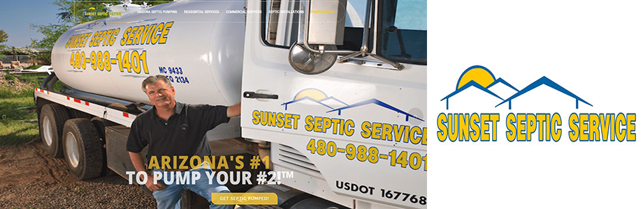 Sunset Septic Service website Gilbert AZ